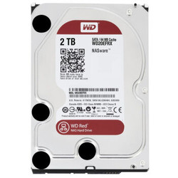 西部数据(WD)红盘 2TB SATA6Gb/s 64M 台式机硬盘(WD20EFRX)