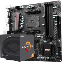 AMD 锐龙 Ryzen 5 1600 处理器+msi 微星 B350M-MORTAR 主板