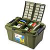 GREAT LIFE 升级翻盖汽车储物箱 家用整理箱 55L 军绿色 99元
