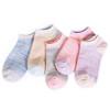 南极人袜子船袜女士短袜运动63%纯棉袜浅口隐形女袜(撞色款 均码) 19.9元5双包邮