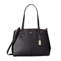 COACH 蔻驰 Stamped Snakeskin Stanton Carryall 女士手提斜挎包