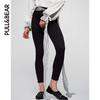 PullAndBear PULL&BEAR 黑色牛仔裤女 紧身裤子夏修身 09686331 49元