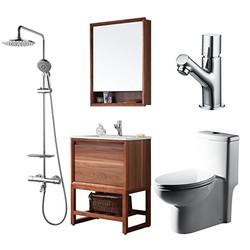 BRAVAT 贝朗 F0036-Z 浴室套装(连体坐便器 + 浴室柜 + 面盆龙头 + 全铜恒温淋浴柱)