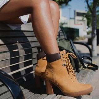 奇葩物 : Timberland 添柏岚 CAMDALE FIELD 女士高跟大黄靴
