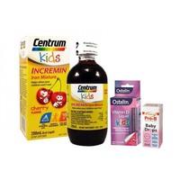 Centrum儿童补铁口服液+Radiance 婴儿益生菌滴剂+Ostelin 儿童维生素D口服液