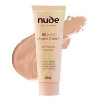 Nude By Nature 奇迹5合1天然植物精华BB霜(中色)