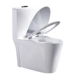 Uniler/联勒 5D超漩虹吸马一体式静音节水马桶坐便器(白鲸款)