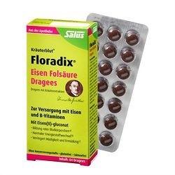 Salus Floradix Eisen 铁元叶酸补铁补血片 84片*4盒