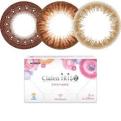 Clalen IRIS 茵洛 双周抛彩色隐形眼镜 6片装 *2件