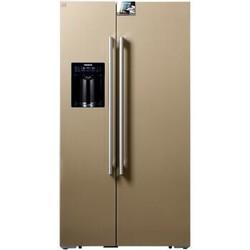 SIEMENS 西门子 BCD-585W(KA92DS30TI) 585升 变频风冷 对开门冰箱 家居互联 智能摄像头 玻璃门 (浅金色)