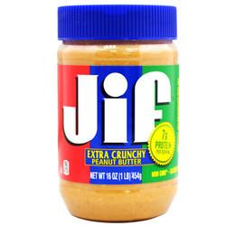 凑单品:美国进口 积富(JiF)花生酱(颗粒型)454g