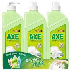 斧头牌(AXE)花茶护肤洗洁精套装1.18kg*3(泵+补+补)(新老包装随机发货)