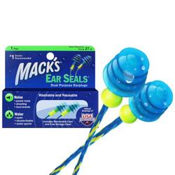 MACK'S 游泳耳塞 带线防丢防水硅胶耳塞 1副装