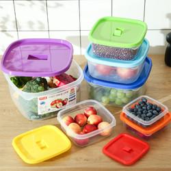 愉悦之家 彩虹塑料保鲜盒 7件套