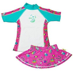 Baby Banz 宝宝儿童防紫外线连体游泳套装UPF50+ 18个月 枚红怪兽印花小熊