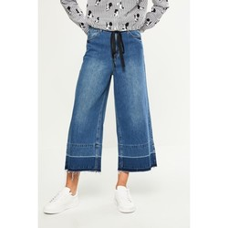 C&A CA200197208 女式磨白纯棉牛仔阔腿裤