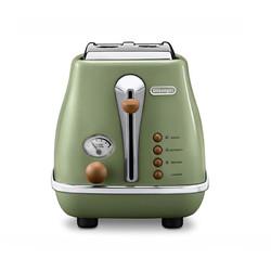 DeLonghi 德龙  CTOV2103 多士炉烤面包机 橄榄绿