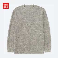 UNIQLO/优衣库 400322 男款水洗风格圆领长袖T恤