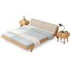 美天乐 北欧风格 实木双人床 1.8*2米  1299元包邮