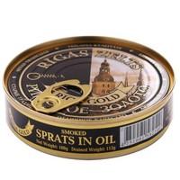 Riga Gold 里加 金牌油浸烟熏小鲱鱼 160g *3件