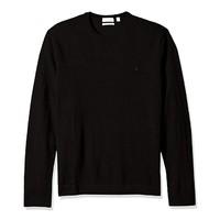 限尺码293:Calvin Klein Merino Tipped Crew 男士羊毛衫