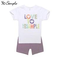 Yesample 男女童短袖短裤 两件套 *2件