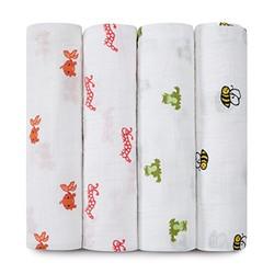 aden+anais muslin 经典婴儿多功能襁褓巾 4条装 +凑单品