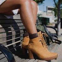 Timberland 添柏岚 CAMDALE FIELD 女士高跟大黄靴