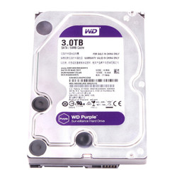 WD 西部数据 WD30EJRX 台式机监控硬盘 紫盘 3TB