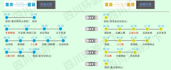 黄金邮轮 宜昌⇄重庆 4/5天三峡邮轮游
