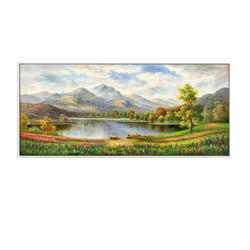 梵格 欧式客厅风景油画  90*40cm