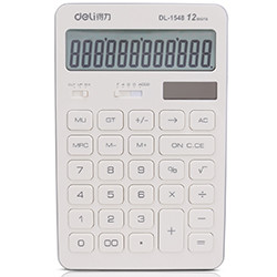 deli 得力 1548 财务计算器 时尚桌面
