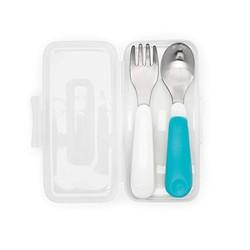 OXO 奥秀 便携不锈钢叉勺套件 带便携盒(蓝色) *2件