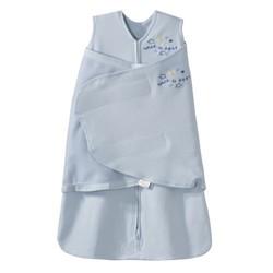 美国HALO 包裹式2合1婴儿防惊跳安全睡袋 纯棉  蓝色S(3-6个月)