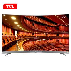 TCL 55A950C 55英寸 4K曲面HDR LED电视