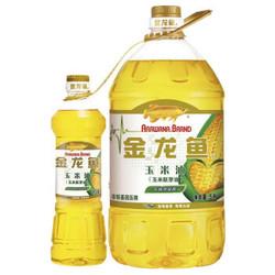 22点:金龙鱼 食用油 非转基因 压榨 玉米油5L(捆绑小油)
