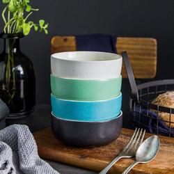 全霸 陶瓷日式碗 4.5英寸 4只装