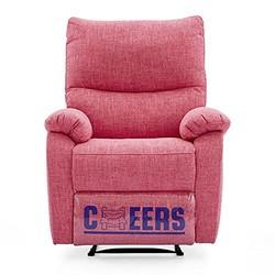 Cheers 芝华仕 头等舱 功能沙发布艺单人 手动可趟 小户型客厅沙发 K106玫瑰粉(配送安装咨询电话:0752-5282875/257/232)(供应商直送)