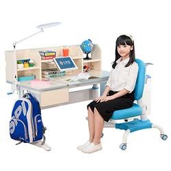 心家宜 手摇同步升降儿童学习桌椅套装 学习桌 大号116CM