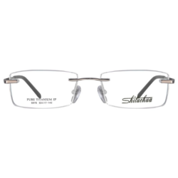 施洛华 S970 C03 豪华纯钛 男士灰色无框(商务款)眼镜架