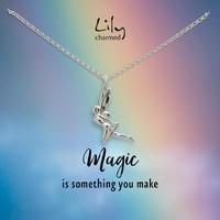 Lily charmed 魔法精灵造型 925银项链