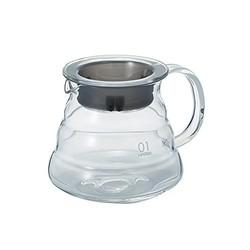 HARIO 好璃奥 日本原装进口 云朵咖啡壶 玻璃 冲泡咖啡壶茶壶XGS-36TB 360ml 黑色