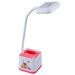 广博(GuangBo)LED学生节能台灯卧室灯两档可调6W粉色NC9800 *4件+凑单品