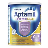Aptamil 澳洲爱他美 金装婴幼儿配方奶粉 无乳糖(1-2段)0-12月 900g