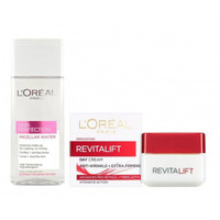 凑单品:L'OREAL PARIS 巴黎欧莱雅 清洁护肤套装(卸妆水200ml+日霜50ml)