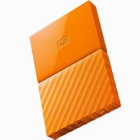 WD 西部数据  My Passport 1TB 移动硬盘(2.5英寸、USB 3.0)橙色