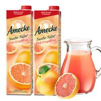 Amecke 爱美可 葡萄柚果汁 1L*2瓶 *3件