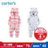 Carter's1件式长袖连体衣小熊摇粒绒女宝宝婴儿童装 49元