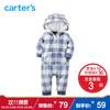 Carter's1件式格纹连体衣爬服摇粒绒男宝宝婴儿童装 59元