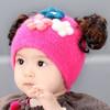 婴儿假发帽子 冬季保暖韩版0-3-6个月花朵公主帽秋冬套头宝宝帽女 8.9元(需用券)